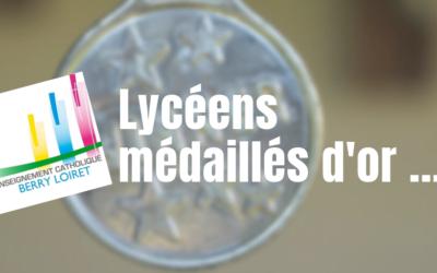 Des lycéens médaillés d'or au Concours LEPINE